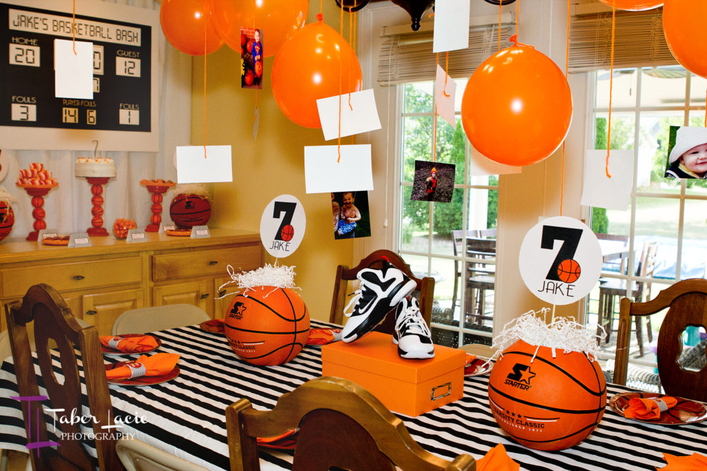 basketball-party-set-up
